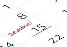 En påminnelse av den viktiga tidsbeställningen Ett viktigt datum med ordstopptiden som är skriftlig i anteckningsbok eller kalend vektor illustrationer