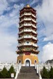 En pagoda z pięknym niebem obrazy stock