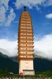en pagodas tre Arkivfoton