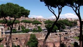 En Pan View Of The Forum av Caesar arkivfilmer