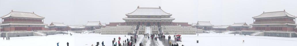 En panorama av Forbiddenet City arkivbild