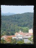 En panorama av Ljubljana från en castel av Ljubljana Royaltyfria Bilder