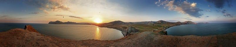 En panorama- sikt från uddkameleont. fotografering för bildbyråer