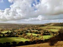 En panoramasikt från askkullen royaltyfri bild