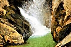 En panoramautsikt av Dasham faller nära Ranchi i Indien Fotografering för Bildbyråer