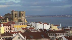 En panoramautsikt av Lissabon lager videofilmer