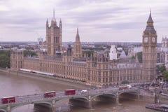 En panoramautsikt av London Fotografering för Bildbyråer