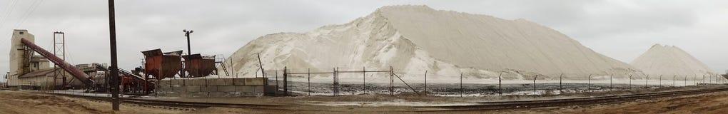 En panoramautsikt av södra salta arbeten för fjärd, San Diego Arkivfoton