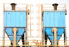 En para av dammar av samlaren i blått färgar Fotografering för Bildbyråer