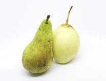 En para av pears Arkivfoto