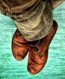 En para av skor royaltyfri fotografi