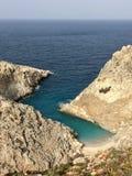 En paradisstrand i crete fotografering för bildbyråer