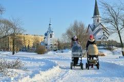En Park City en el invierno Fotografía de archivo libre de regalías