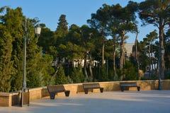 En parque de la montaña, ciudad de Baku, Azerbaijan Imagen de archivo