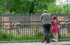 En parque zoológico Fotos de archivo