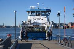 En passagerarfärja i hamnen gothenburg sweden Fotografering för Bildbyråer