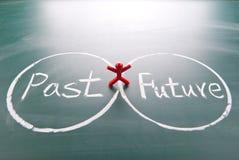 En between past man och framtid. Royaltyfri Foto
