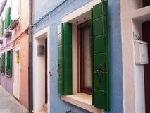 En pastel - Burano image stock