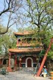 En paviljong i Lama Temple i Peking (Kina) Royaltyfri Foto