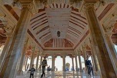 En paviljong på Amber Fort, Jaipur, Rajasthan arkivfoton