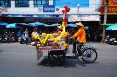 En pedicab Arkivfoto