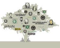 En pengarträdbakgrund royaltyfri illustrationer