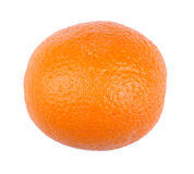 En perfekt apelsin som isoleras på en vit bakgrund Smaklig ljus apelsin Saftiga tropiska frukter för en healthful frukost arkivfoto