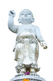 En perfekt pediatrik av statyn på vit bakgrund. Fotografering för Bildbyråer
