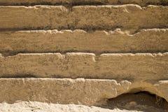 En pierre cannelé et en bas à droite araignée s'est construit un trou image libre de droits