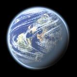 En planet i utrymmet Arkivfoton