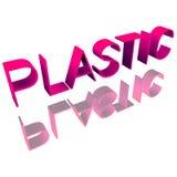 ` En plastique de ` d'inscription 3d D'isolement sur le fond blanc réflexion illustration stock