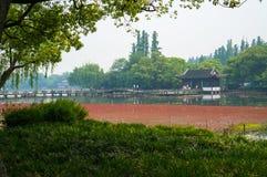 En plats från den västra sjön Arkivbilder