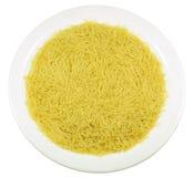 En platta av pasta Arkivfoto