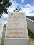 En platta firar minnet av tjänstemännen som slogs i den Vargas träskstriden royaltyfri bild