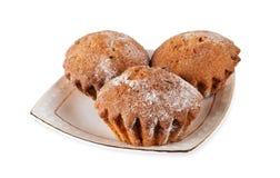 En platta med muffin Royaltyfri Fotografi