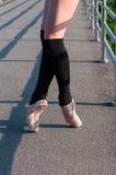 En Pointe della ballerina Immagine Stock Libera da Diritti