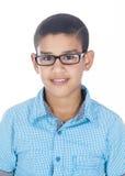 En pojke med exponeringsglas royaltyfria bilder