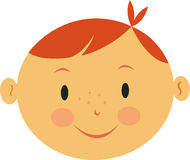 En pojke med rött hår Stock Illustrationer