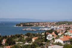 En port av ön Cres royaltyfri fotografi