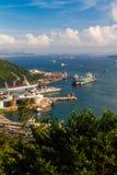 En port av Tsing Yi Hong Kong Royaltyfri Foto