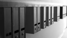 En profondeur noir et blanc de boîte aux lettres de l'allée de champ Photographie stock libre de droits