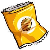 En påse av chiper Arkivfoton