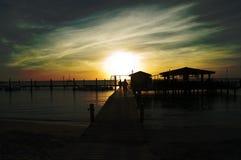 En puesta del sol Imagenes de archivo