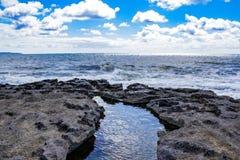 En punkt av sikten på Atlanticet Ocean arkivbilder