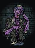 Purpurfärgad Zombie vektor illustrationer
