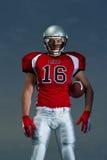 En Quarterbackstående för amerikansk fotboll Fotografering för Bildbyråer