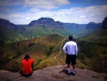 En que mira el valle, Chapada Diamantina, el Brasil Imagen de archivo