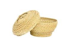 Basketryen med täcker Arkivfoto