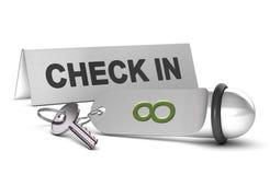 En réservant un Roon dans un hôtel, signez Image stock