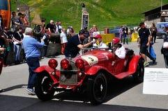 En röd Alfa Romeo 6C Gran sport 1500 Arkivbild
